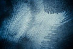 Błękitny abstrakt szczotkująca powierzchnia Zdjęcia Stock