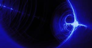 Błękitny abstrakt Wykłada krzyw cząsteczek tło royalty ilustracja