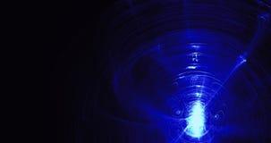 Błękitny abstrakt Wykłada krzyw cząsteczek tło Obrazy Royalty Free