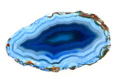 Błękitny agat odizolowywający Obraz Stock