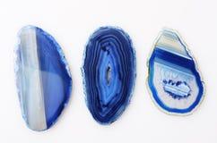 Błękitny agata klejnotu kamień Zdjęcie Stock