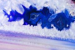 Błękitny agata zakończenie up Zdjęcie Stock