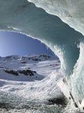 Błękitny Alaski lodowiec zdjęcie stock