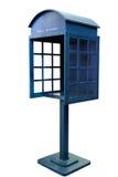 Błękitny Antykwarski telefonu budka zdjęcia stock