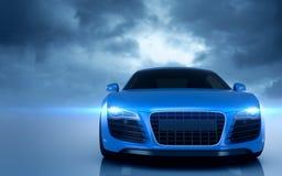 Błękitny Audi r8 sportowy samochód royalty ilustracja