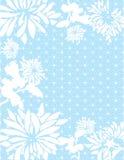 Błękitny azjata kwitnie tło royalty ilustracja