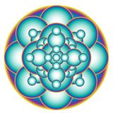 Błękitny bąbla kształta okręgu mandala royalty ilustracja