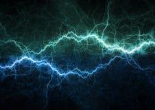 Błękitny błyskawicowy rygiel, osocze władza i energia, fotografia stock