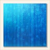 Błękitny błyszczący podeszczowy abstrakt wody tła projekt royalty ilustracja