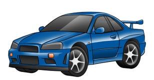 Błękitny błyszczący zabawkarski samochód ilustracji