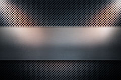 Błękitny barwiony dziurkowaty metalu talerz z metalu sztandarem ye i dwa ilustracja wektor