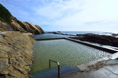 Błękitny basen, Bermagui Fotografia Royalty Free