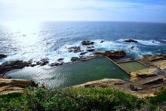 Błękitny basen, Bermagui Zdjęcie Royalty Free