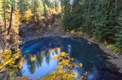 Błękitny basenu ślad obraz stock
