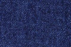 Błękitny bawełniany drelichowy cajg tkaniny tekstury tło, zamyka up Obraz Stock