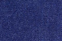 Błękitny bawełniany drelichowy cajg tkaniny tekstury tło, zamyka up Zdjęcia Stock