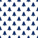 Błękitny Bell, Bezszwowy wzór Fotografia Stock