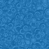 Błękitny bezszwowy okręgu wzór Obrazy Stock
