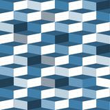 Błękitny bezszwowy pudełko wzór Fotografia Royalty Free