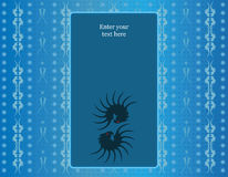 Błękitny bezszwowy tło Zdjęcie Royalty Free