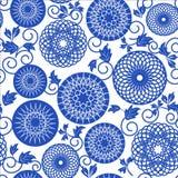 Błękitny bezszwowy wzór Ilustracja Wektor