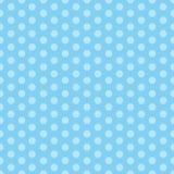 Błękitny bezszwowy wzór z polek kropkami Ilustracja dla ch?opiec przy dziecko prysznic przyj?ciem T?o dla wita? lub zaproszenia k royalty ilustracja