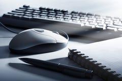 błękitny biura stonowani narzędzia Obraz Stock