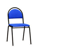 Błękitny biurowy krzesło odosobniony Zdjęcia Royalty Free