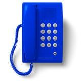 błękitny biurowy telefon ilustracja wektor