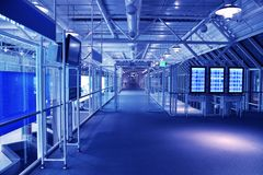błękitny biznesowa sala obraz royalty free