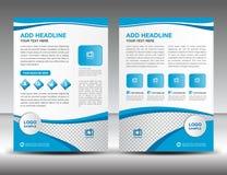 Błękitny biznesowy broszurki ulotki projekta układu szablon w A4 rozmiarze, Zdjęcia Stock