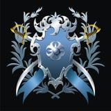 Błękitny blazon ilustracji