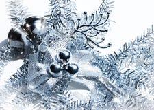 Błękitny boże narodzenie dekoraci rogacz Obraz Stock