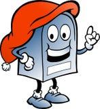 Błękitny Bożenarodzeniowa Skrzynka pocztowa Obraz Stock