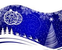 Błękitny Bożenarodzeniowy tło Obraz Royalty Free