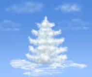 błękitny bożych narodzeń chmury sen śniegu drzewo royalty ilustracja