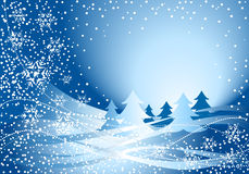 błękitny bożych narodzeń dekoraci drzewo Zdjęcie Stock