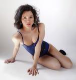 Błękitny bodysuit Zdjęcie Stock