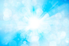 Błękitny bokeh abstrakta tło Obrazy Royalty Free
