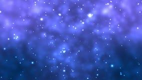 Błękitny Bokeh Zaświeca tło animację royalty ilustracja