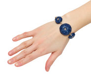 błękitny bransoletka Obrazy Royalty Free