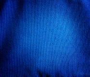 Błękitny brezentowy tkaniny tło Zdjęcia Royalty Free