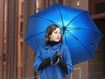 błękitny brunetki ubrań mody krótkopędu potomstwa zdjęcia stock