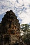 błękitny Buddha cyzelowania twarzy niebo fotografia royalty free