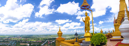 błękitny Buddha nieba statua Zdjęcie Stock
