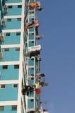 Błękitny budynek w singapour Obrazy Royalty Free