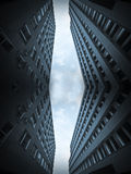 błękitny budynków kolażu biuro Zdjęcia Royalty Free
