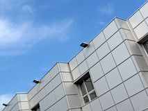 błękitny budynku biura srebra niebo Obraz Stock