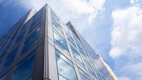 błękitny budynku szkła niebo obrazy royalty free