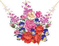 błękitny bukieta kwiatu odosobniona czerwień Zdjęcie Stock